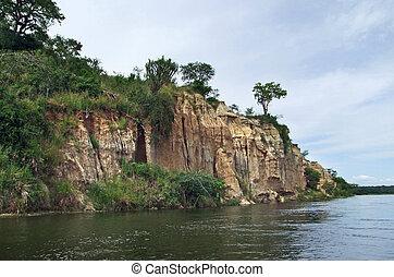 waterside Victoria Nile scenery in Uganda