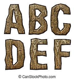 de madera, alfabeto, aislado, blanco, Plano de fondo