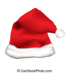 Red father christmas cap - Red father christmas hat with...
