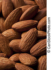 almond - Composition from almond nuts isolated on white...