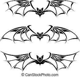 Bats illustration collection Illustration on white...
