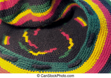 woolen rasta cap - full frame background showing a colorful...