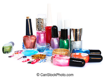 Nail polishes and glitters - Nail polishes, glitters and...