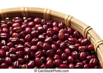 adzuki beans - Macro view of adzuki beans