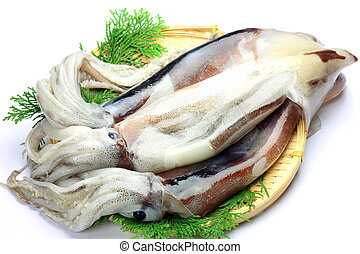 cuttlefish - I put three cuttlefishs in a colander and took...