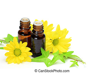 aromatherapy - I attach a yellow chrysanthemum to aroma oil...
