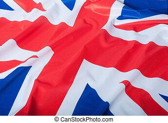 National Flag of Great Britain - Detail of Silky National...