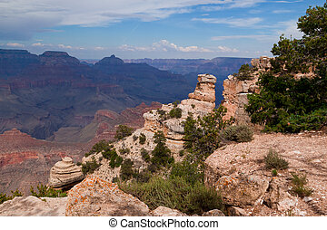 AZ-Grand Canyon--S. Rim-Pima Point - This is a view near...