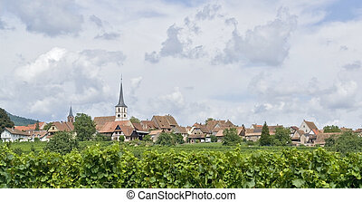 Mittelbergheim in Alsace - village named Mittelbergheim, a...