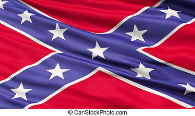 Confederate Battle Flag Close Up - A close up of Confederate...