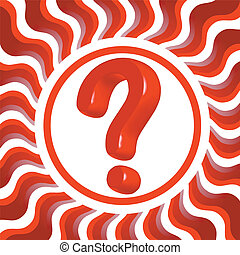 question mark - red question mark on wavy background