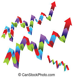Line Graph Process Chart - An image of a line graph arrow...