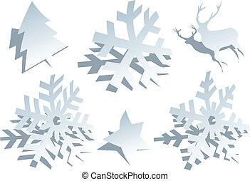 paper snowflakes, vector