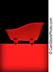 bath decoration red light - bath decoration red on black...