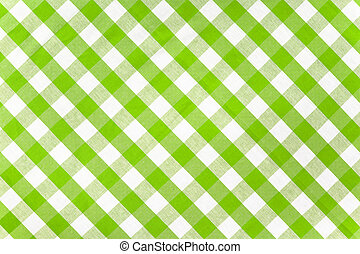 green checked fabric tablecloth