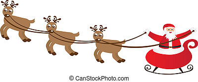 sleigh cartoon  isolated over white background. vector