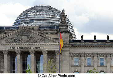 german parliament detail - detail of the german parliament...
