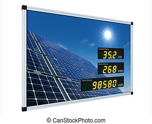 Solar power display - english