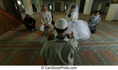 Imam preaching at Wedding Ceremony - Imam (islamic priest)...