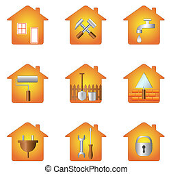 house and tools