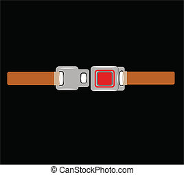 seatbelt - seat belt on black unbuckled