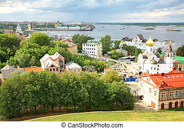 Panoramic view of Nizhny Novgorod in Russia