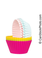 cupcake cups - isolated cupcake cups