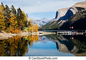 Lake Minnewanka Banff National park Alberta Canada, Oct 2011...