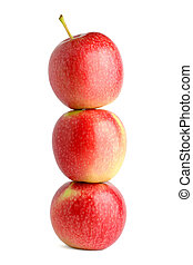 Pile of apples isolated on white background