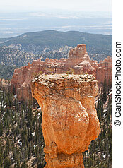 sedimentary rock formations in bryce canyon national park, utah