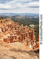 sedimentary rock formations in bryce canyon national park,...