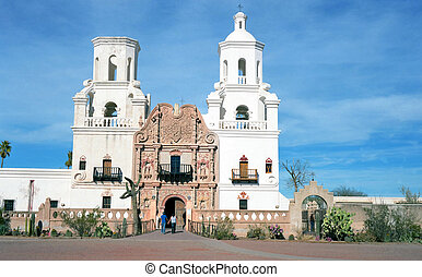 San Xavier Mission - San Xavier - Old spanish mission in...