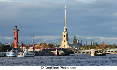 Peter and Paul Fortress, Rostral Column and Palace Bridge