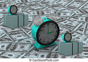 Time is money concept with clock