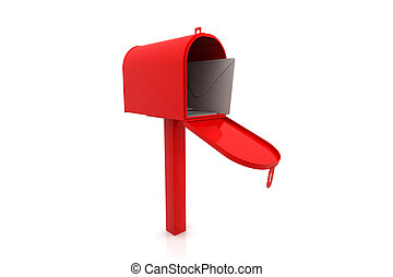 3d rendering of mail box