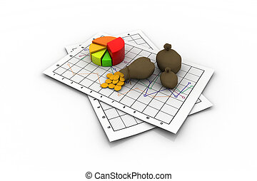 Business 3D graph