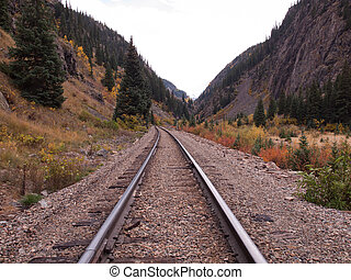 Railroad Tracks - Railroad tracks. This train is in daily...