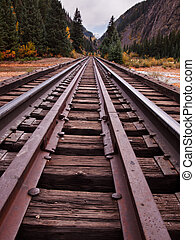Railroad Tracks - Railroad tracks This train is in daily...
