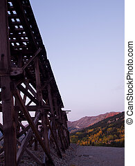 Mountains in Autumn - Red mountain and Yankee Girl Mine near...