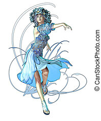 Winter Maid - a fairylike girl that represented the...