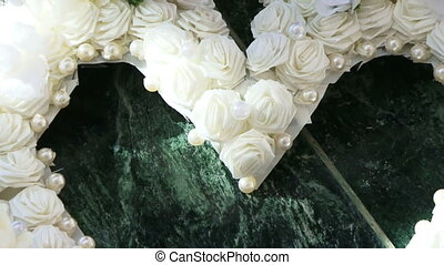 Heart of flowers - A beautiful white heart made of flowers.