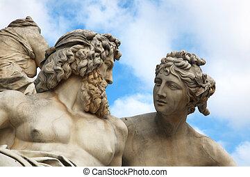 Pallas, Athene, Brunnen, Viena
