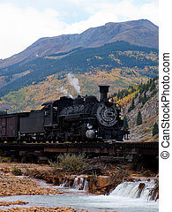 Iron Horse - Steam locomotive engine. This train is in daily...
