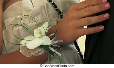 Groomsman - The groomsman with a beautiful flower ready to...