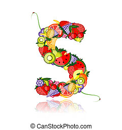 Fruit letter for your design See others in my gallery