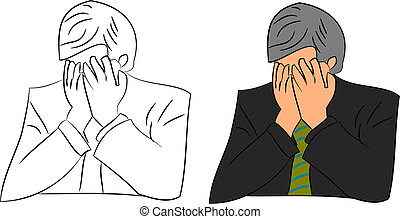 Frustrated Businessman - a frustrated business man vector