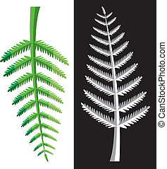 fern leaves - vector design of fern leaves