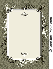 Vector Brown Frame and Ornate Background