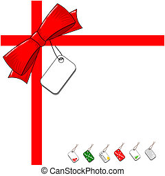 Red ribbon bow gift