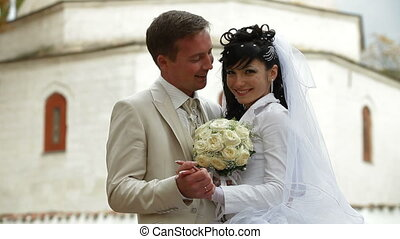 just married Crimean Tatar couple